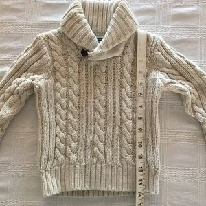 Adorable Boys Shawl Collar Sweater 2T